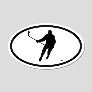 Hockey Player 20x12 Oval Wall Peel