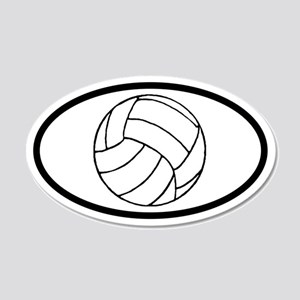 Volleyball Ball 20x12 Oval Wall Peel