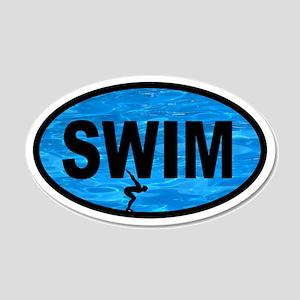 SWIM Pool Racer 20x12 Oval Wall Peel