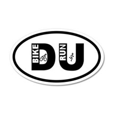 Duathlon Bike Run 20x12 Oval Wall Peel