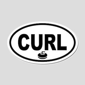 Curling Stone 20x12 Oval Wall Peel