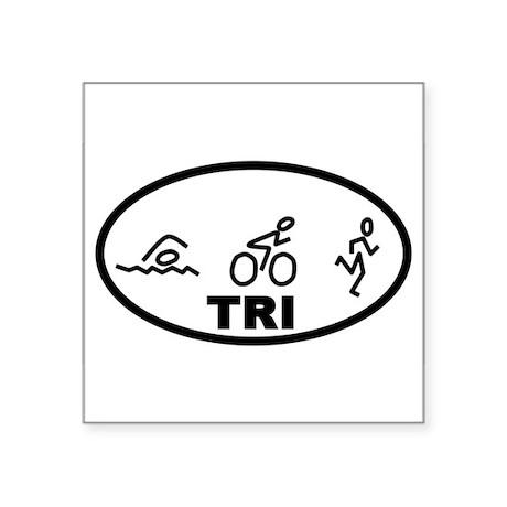 TRI Swim Bike Run Oval Sticker