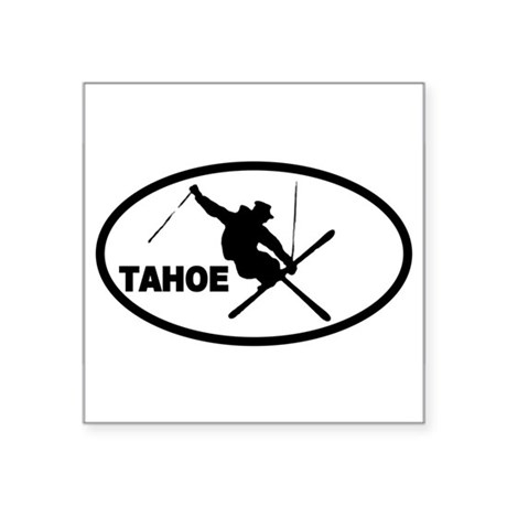 Tahoe Skier Oval Sticker