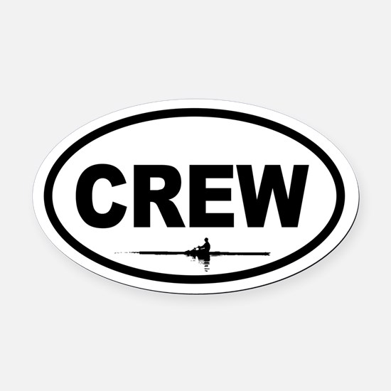Crew Scull Oval Car Magnet