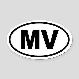 Martha's Vineyard MV Oval Car Magnet