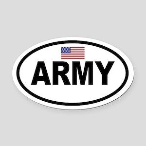 ARMY Flag Oval Car Magnet