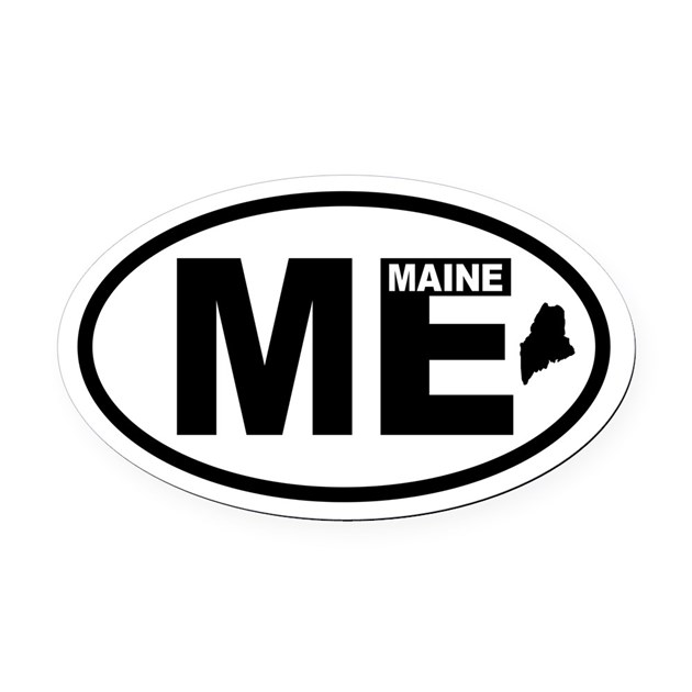 Toyota Maine: Maine Map Oval Car Magnet By Atozoriginals