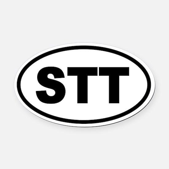St. Thomas STT Oval Car Magnet