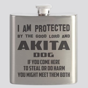 I am protected by the good lord and Akita do Flask