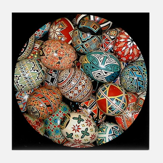 Pysanky Group 1 Tile Coaster