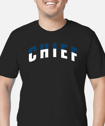 CHIEF Men's Fitted T-Shirt (dark)