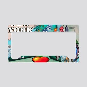 2-New York Map 11x17 License Plate Holder