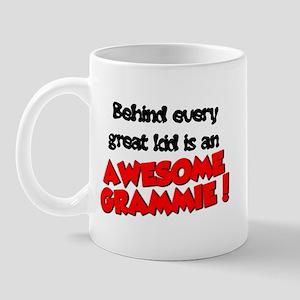 3-Behindeverygreatkidisanawesomegramie Mugs