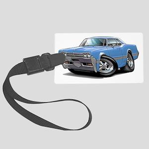 1966 Olds Cutlass Lt Blue Car Large Luggage Tag