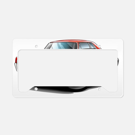 1966 Olds Cutlass Red Car License Plate Holder