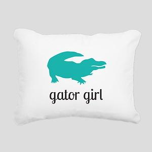 Gator Girl Rectangular Canvas Pillow