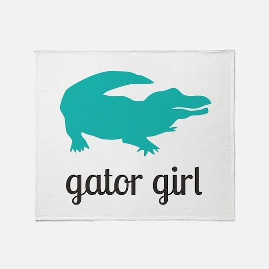 Gator Girl Throw Blanket