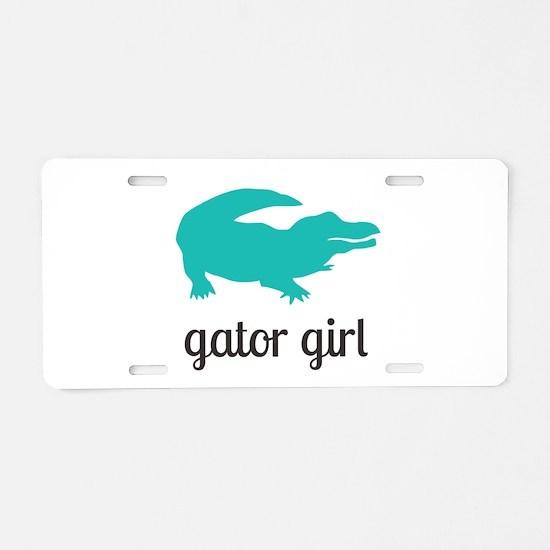Gator Girl Aluminum License Plate