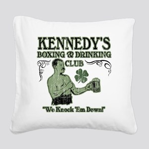 kennedys club Square Canvas Pillow