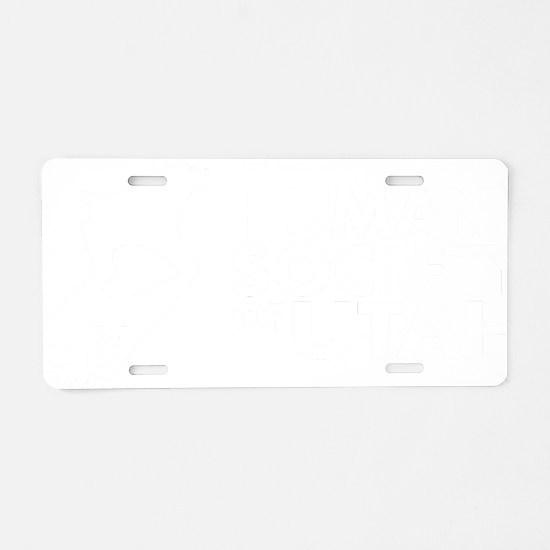 HSUHorizontal 50WhiteTrans Aluminum License Plate