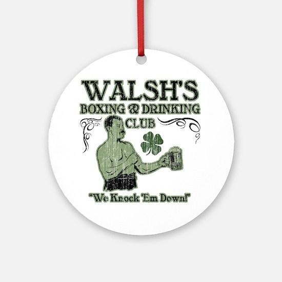 walshs club Round Ornament