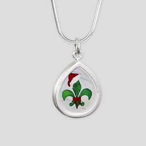 Art Silver Teardrop Necklace