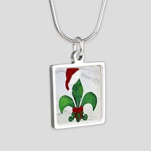 Art Silver Square Necklace