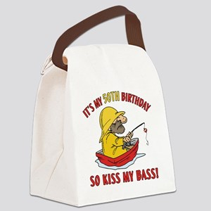 kissmybass50 Canvas Lunch Bag