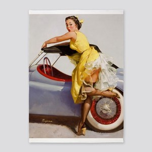 Pin Up Girl, Convertible, Vintage Poster 5'X7'area
