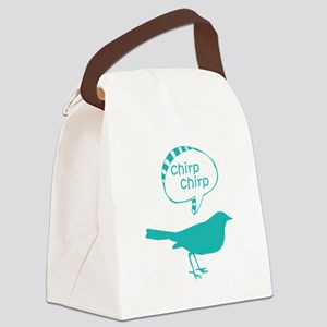 Chirp Chirp Birdie Canvas Lunch Bag