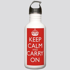 Keep Calm and Carry On Stainless Water Bottle 1.0L