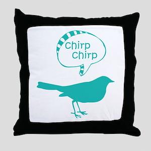 Chirp Chirp Birdie Throw Pillow