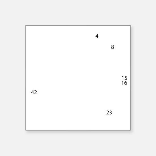 """clock Square Sticker 3"""" x 3"""""""