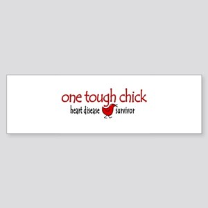 One Tough Chick Heart Disease Bumper Sticker