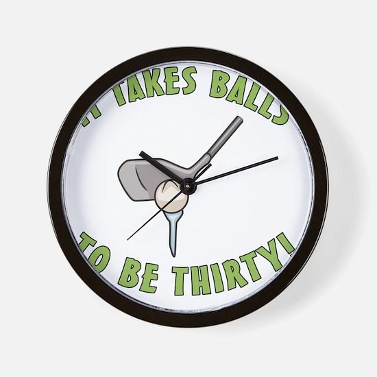 balls30 Wall Clock