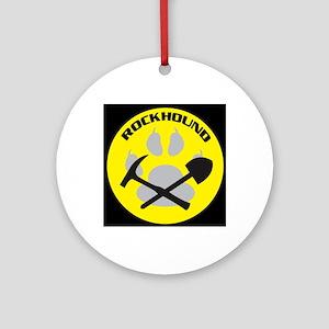 bkNEWrockhound-sticker Round Ornament