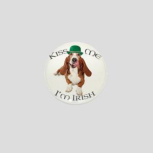 Basset Irish Kiss Mini Button
