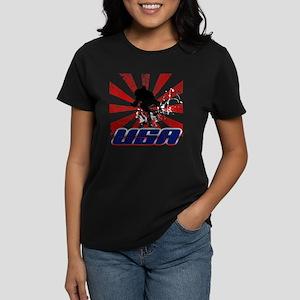 usa snowboard Women's Dark T-Shirt