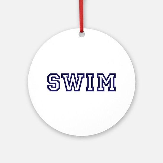 Swim Athletic Ornament (Round)