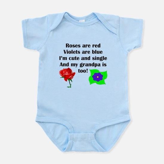 Cute And Single Grandpa Poem Body Suit
