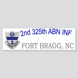 2nd 325th abn inf cap Sticker (Bumper)