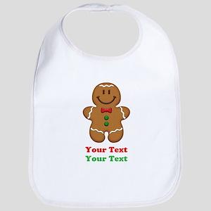 Personalize Little Gingerbread Man Bib
