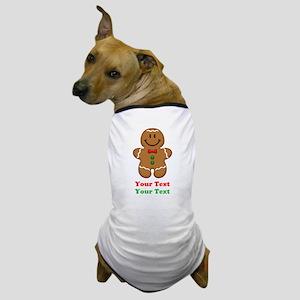 Personalize Little Gingerbread Man Dog T-Shirt
