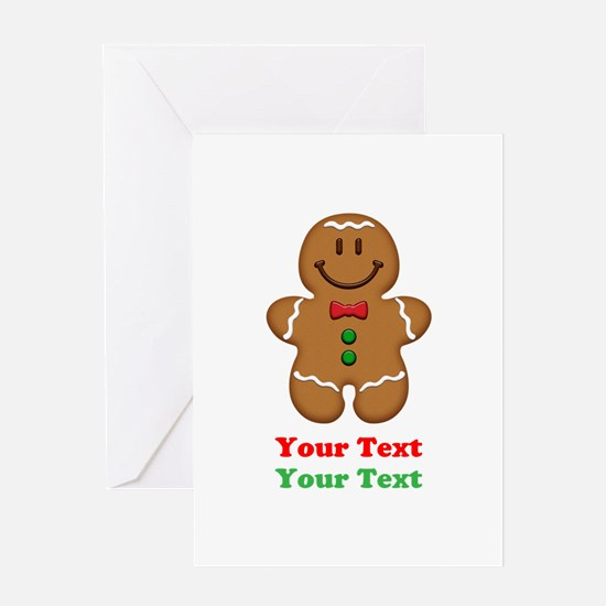 Personalize Little Gingerbread Man Greeting Card