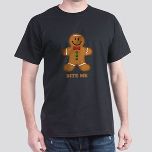 Gingerbread Man Bite Me Dark T-Shirt