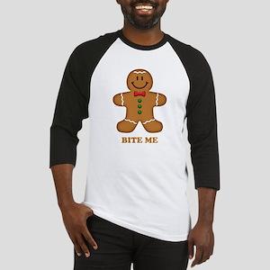 Gingerbread Man Bite Me Baseball Jersey