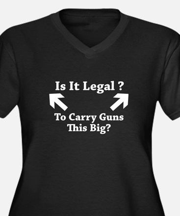 Is It Legal To Carry Guns This Big? Women's Plus S
