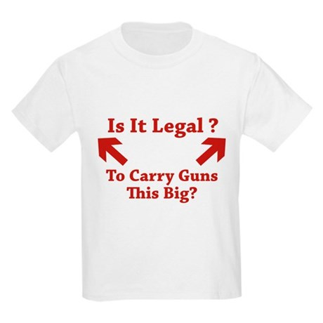 Is It Legal To Carry Guns This Big? Kids Light T-S