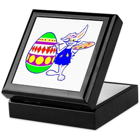 Easter Bunny Painting Keepsake Box