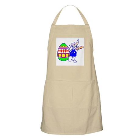 Easter Bunny Painting BBQ Apron